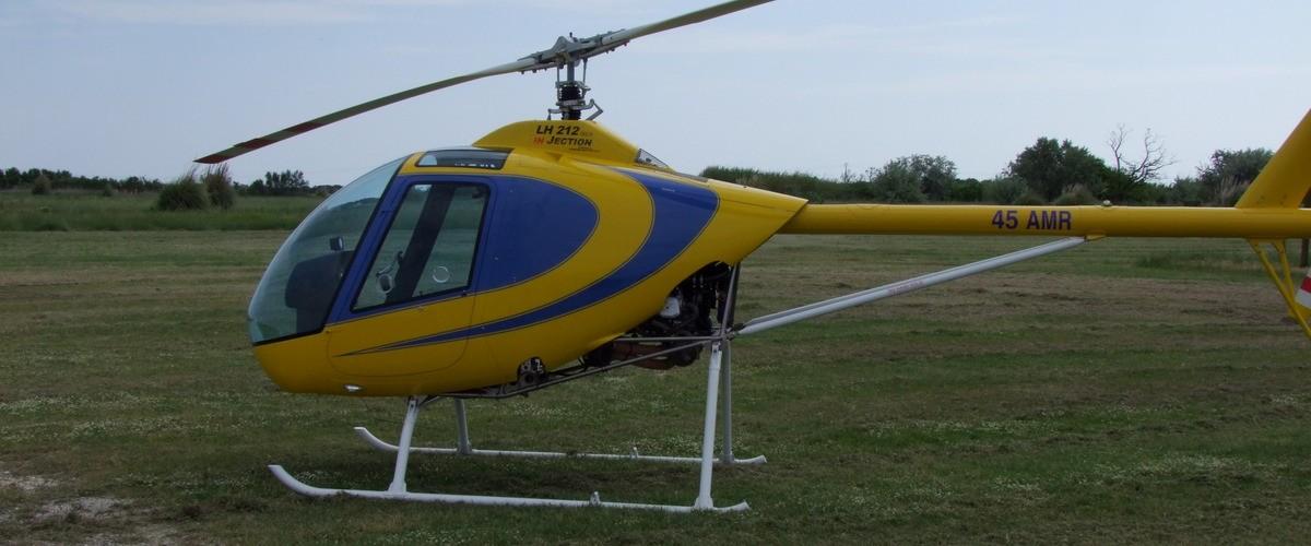 Baptême de l'air en hélicoptère au dessus de Port Barcares