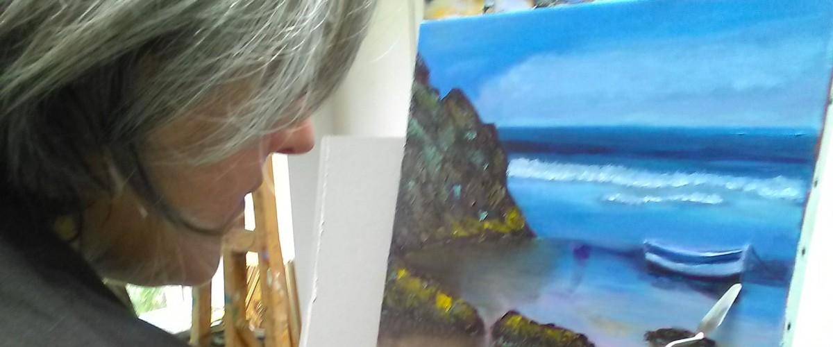 Stage d'Initiation de la peinture à l'huile sur 5 séances et réalisation d'un océan