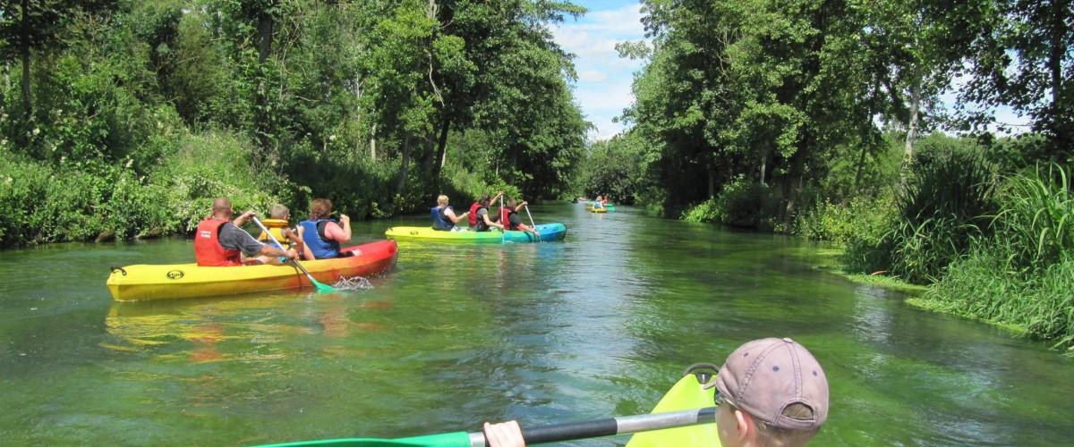 Descente en canoë-kayak immersion nature