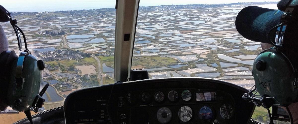Vol d'initiation en hélicoptère à Dinard