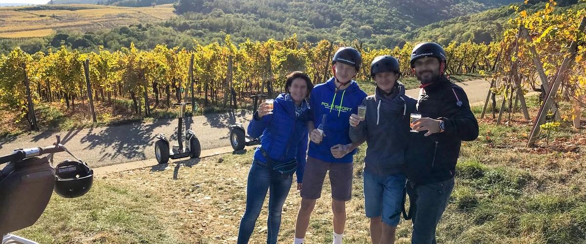 Découverte du vignoble d'Eguisheim en segway accompagnée de sa coupe de crémant