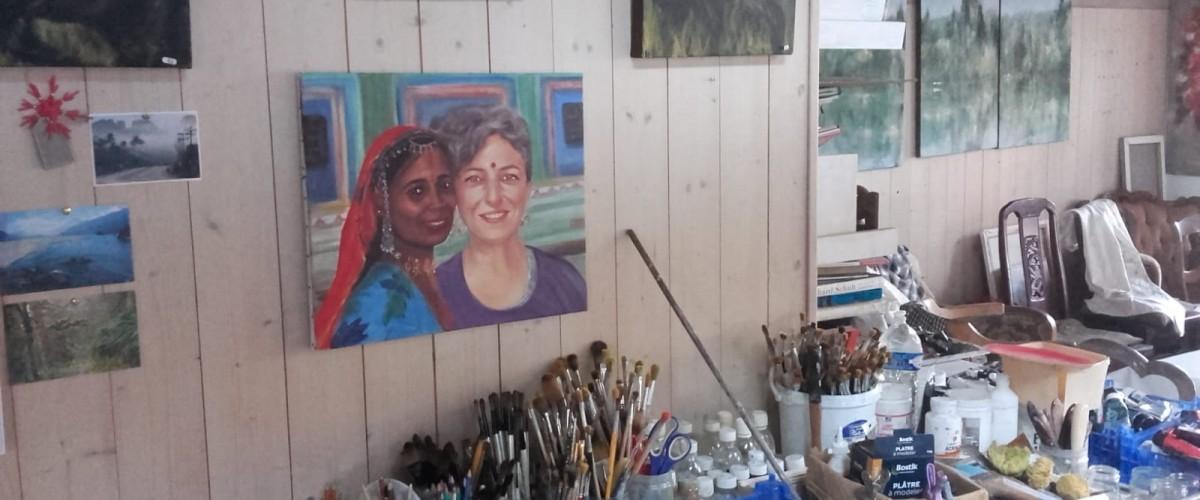 Stage de perfectionnement et réalisation d'un portrait à l'huile, 6 séances