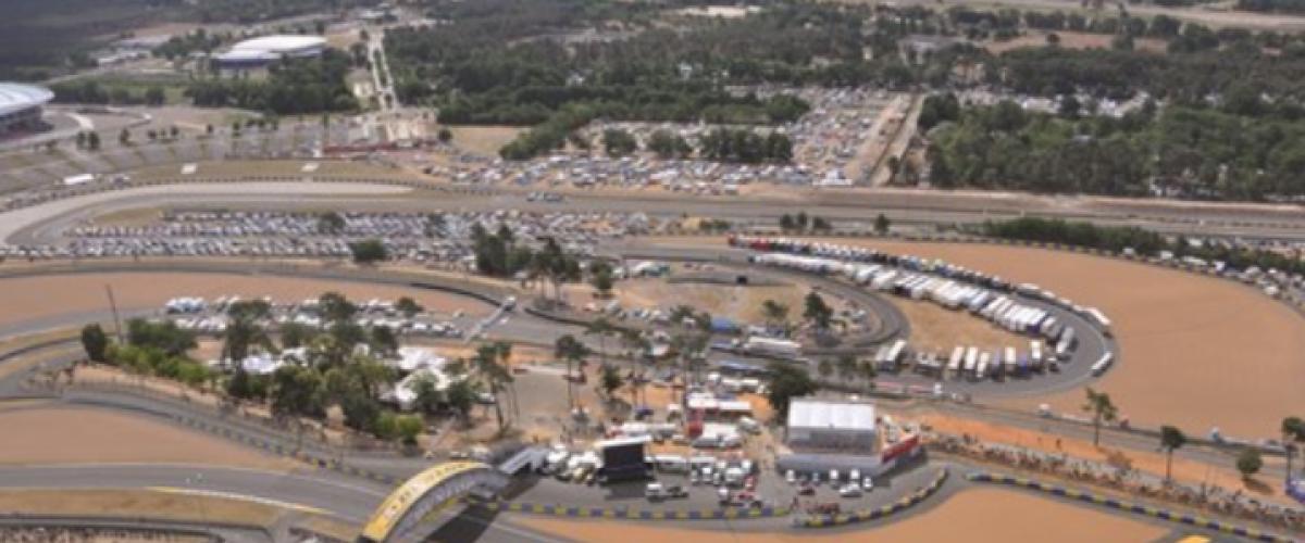 Sortie dans les airs en hélicoptère au-dessus des 24h du Mans