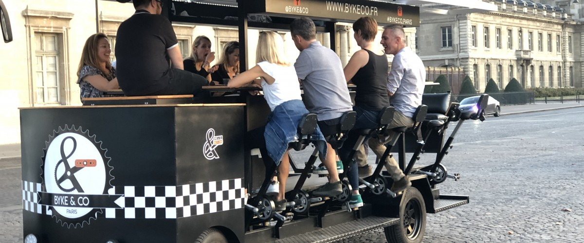Tour en Beer Bike à Paris
