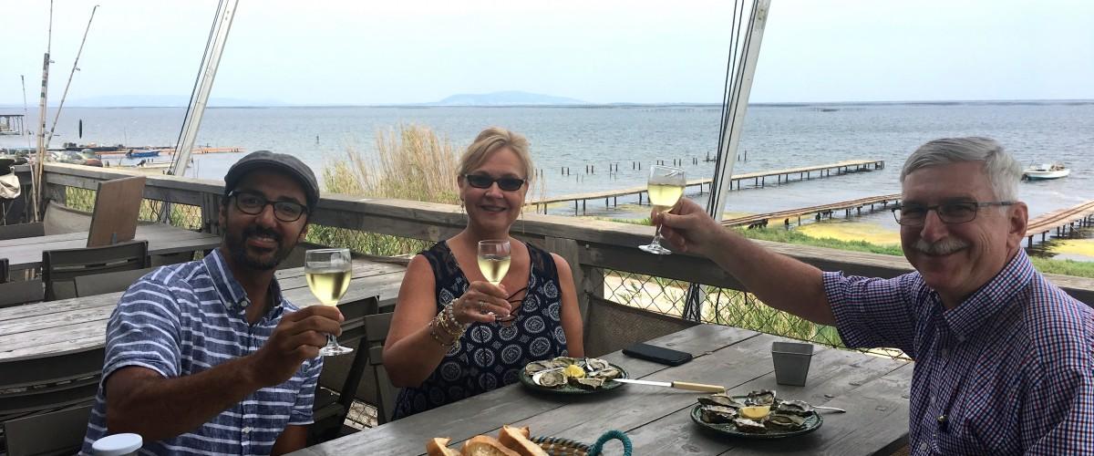 Demi journée Dégustation de vins et d'huîtres à l'étang de Thau