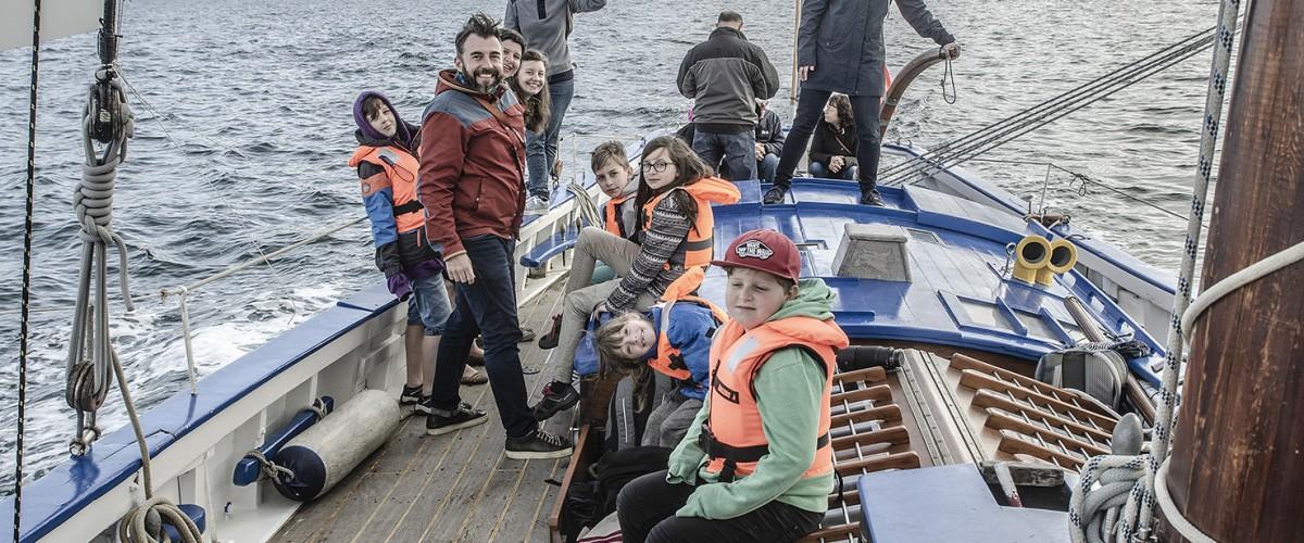 Sortie en mer sur voilier traditionnel à l'île d'Hoedic