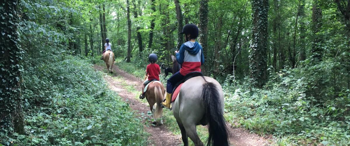 Promenade à cheval Famille