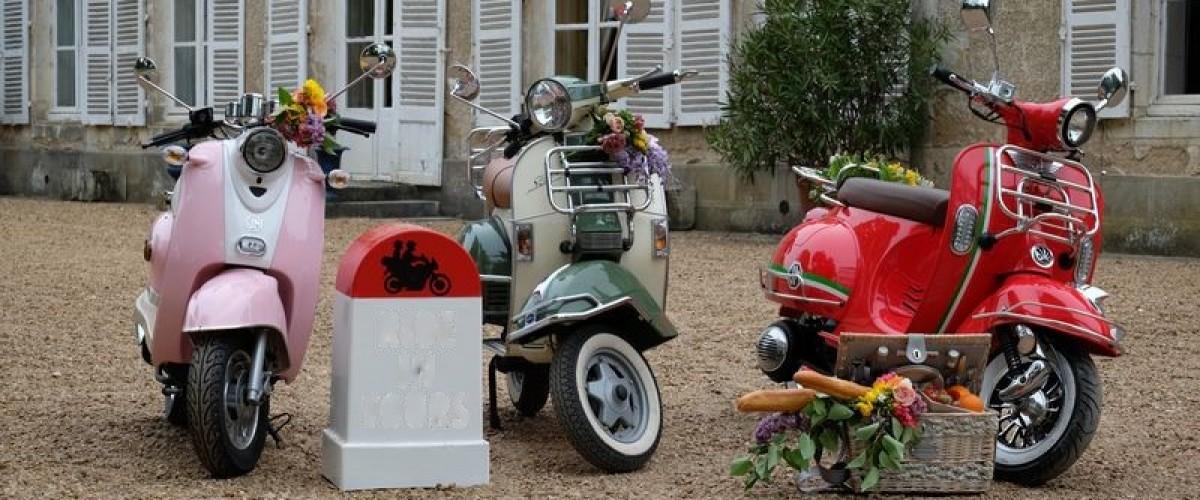 Balade guidée en scooter rétro en Touraine