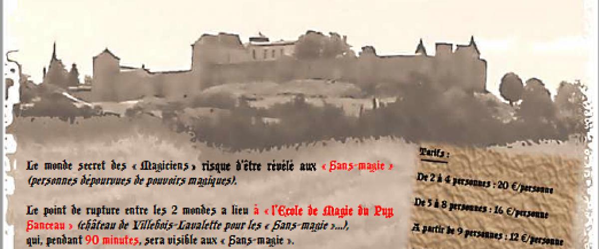 Escape Game au Château de Villebois-Lavalette
