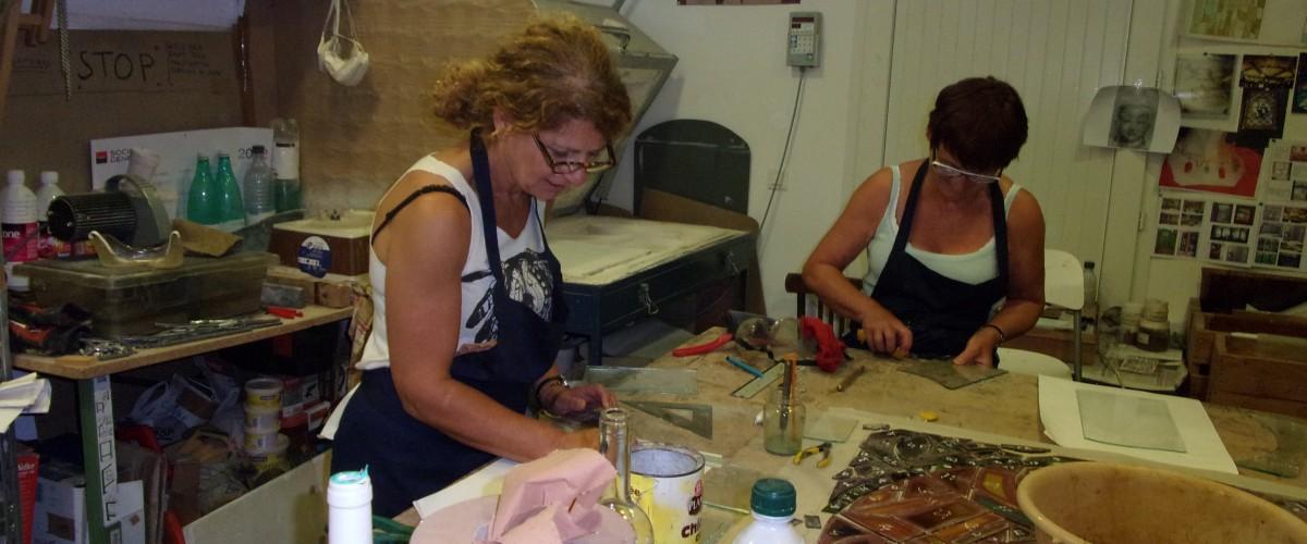 Initiation à la création de vitrail à l'île Rousse !