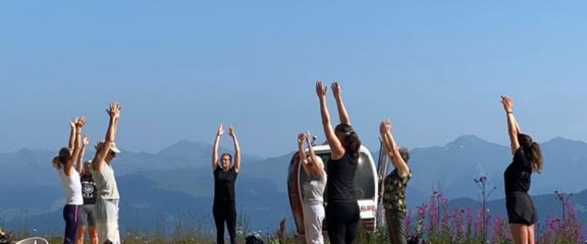 Balade et Yoga à Méribel