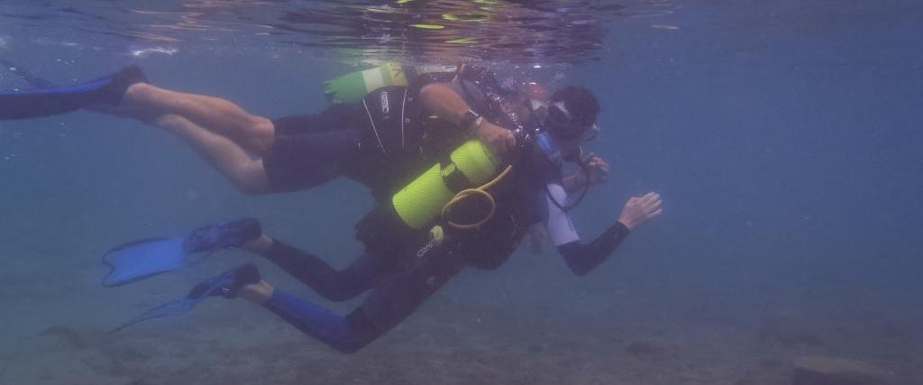 Sortie plongée sous-marine en bouteille sur la baie de St Raphaël