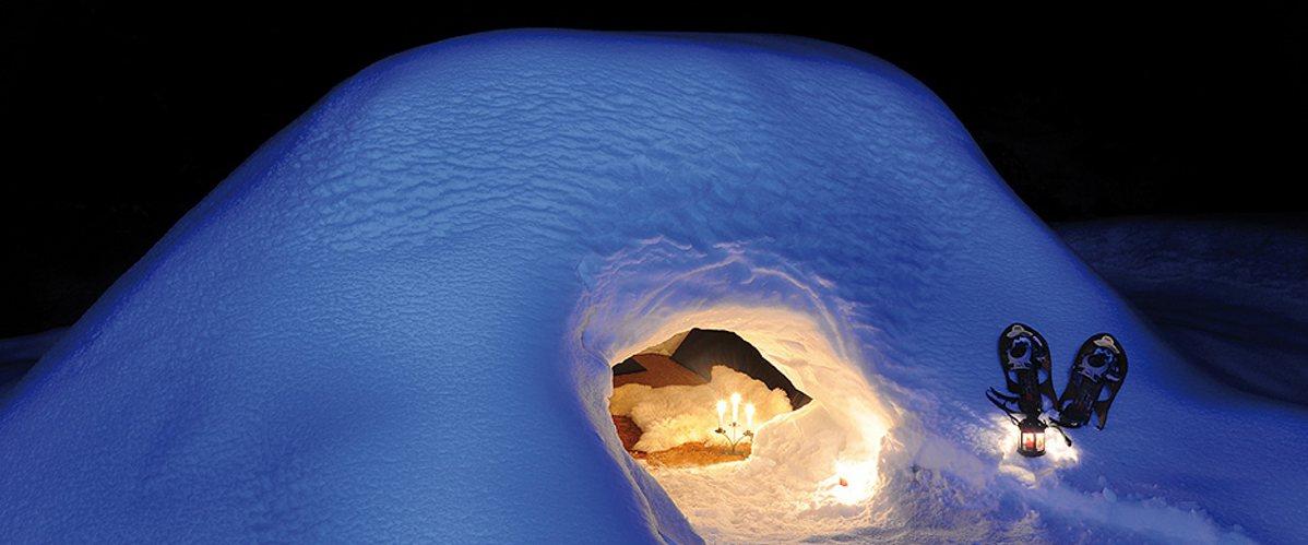 Balade en raquettes et goûter dans un igloo à Megève !