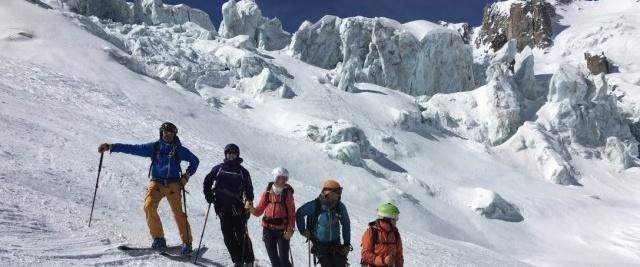Vallée Blanche à ski au départ de Chamonix
