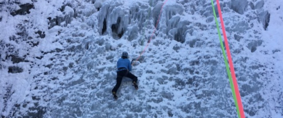 Cascade de glace à Chamonix