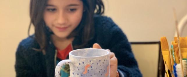 Anniversaire Enfant Peinture sur Figurine Céramique