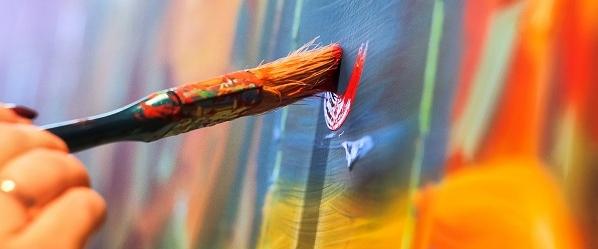 """ATELIER privatisé """"testez l'art abstrait avec l'artiste""""  en Galerie à Honfleur"""