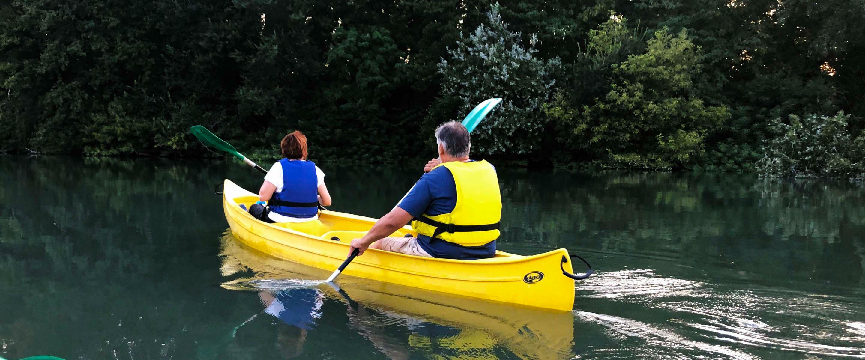 Descente du Rhône en canoë-kayak & paddle