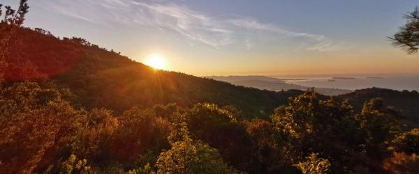 Randonnée lever de soleil dans l'Estérel