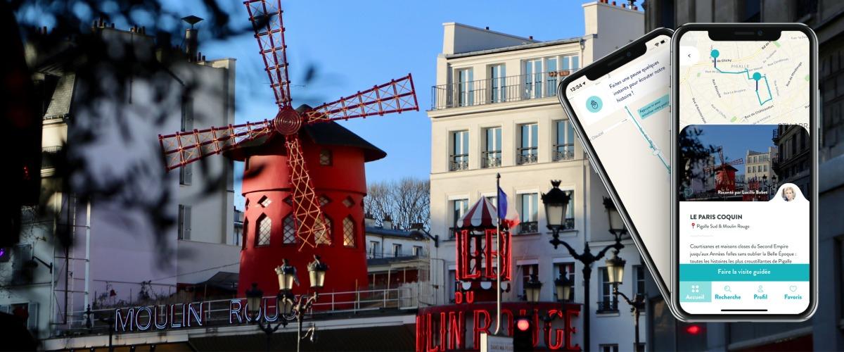 Le Paris Coquin, visite audio-guidée sur smartphone à Pied