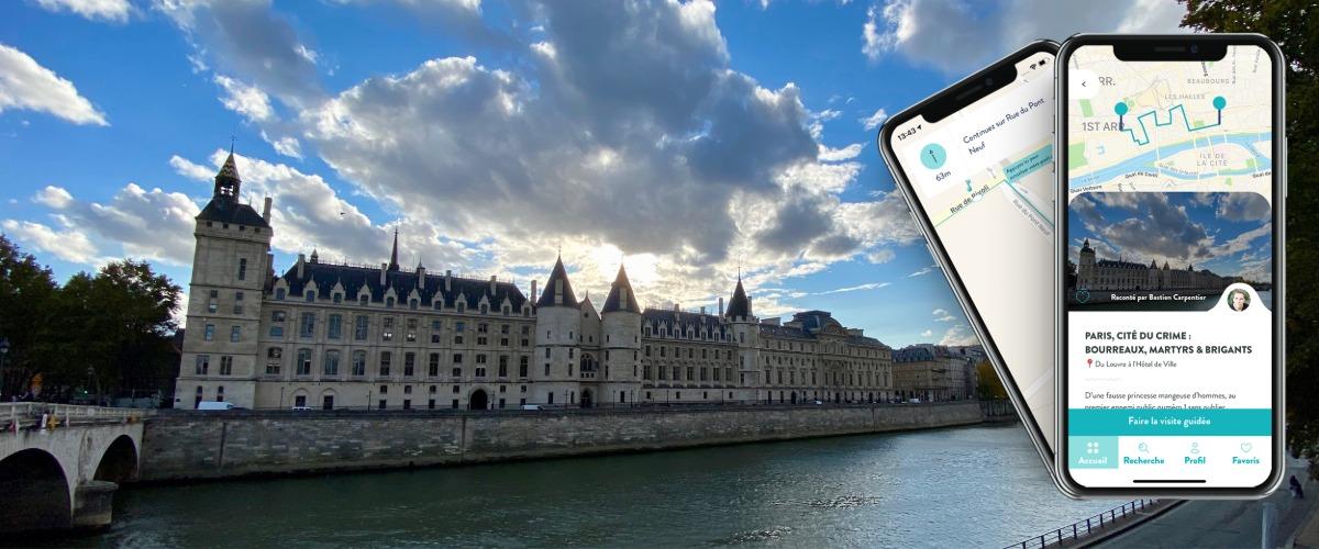 Paris, Cité du Crime, visite audio-guidée sur smartphone à Pied
