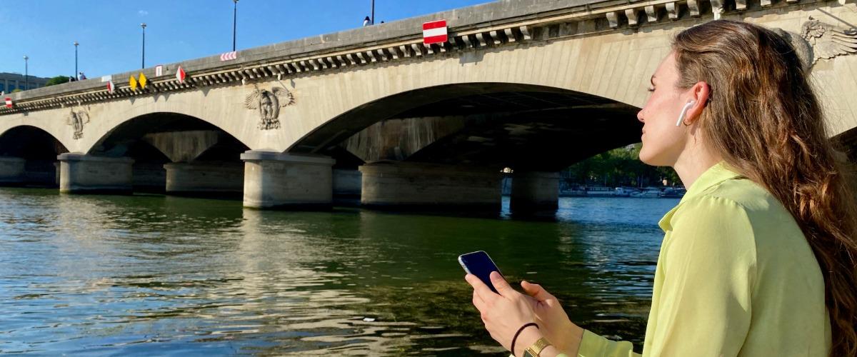 La Tour Eiffel, visite audio-guidée sur smartphone à Pied