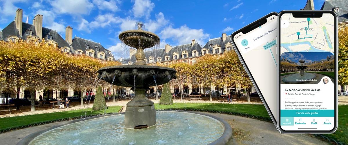 La Face Cachée du Marais, visite audio-guidée sur smartphone à Pied