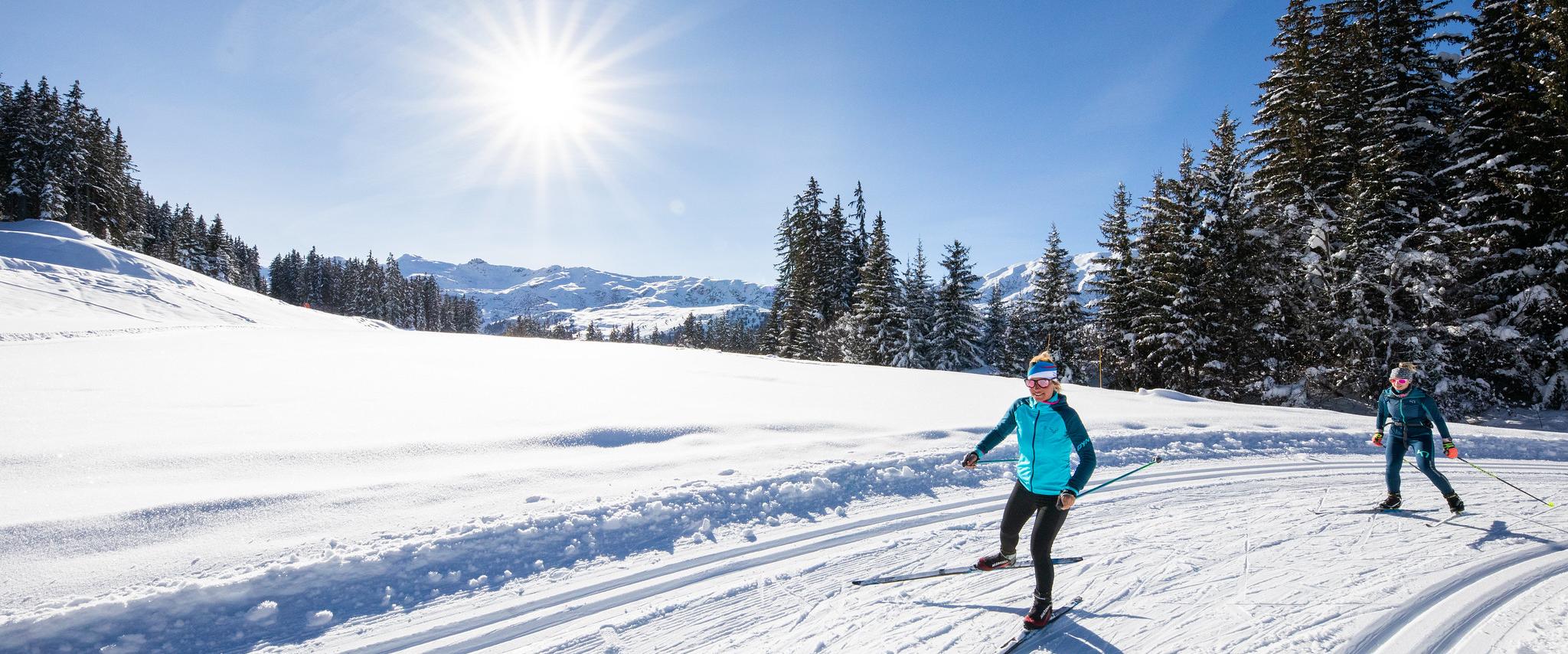 Sortie en ski nordique sur Méribel avec ESF